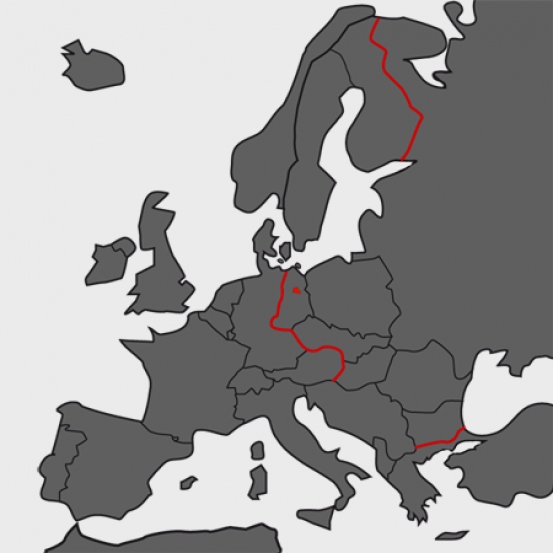 "Map: The ""Iron Curtain"" in Europe"